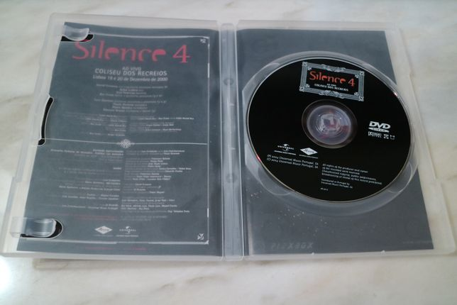 Silence 4 Concerto ao Vivo no Coliseu dos Recreios DVD David Fonseca