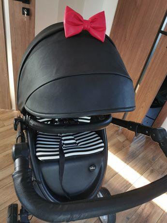 Mima xari 2w1 wózek czarno biały, parasol