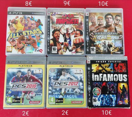 Jogos Playstation e dvds