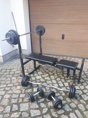 Siłownia domowa 105kg żeliwo zestaw do ćwiczeń magnus