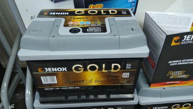 Akumulator Jenox Gold 63Ah 600A Ford Opel Dowóz Montaż CA612 D21 64Ah