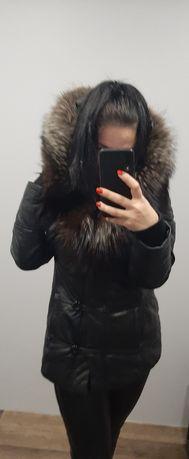 Куртка кожаная, женская, зима.