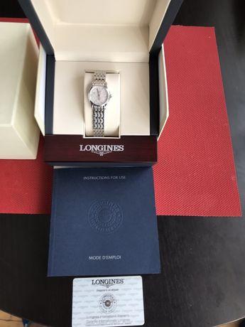 Piękny zegarek LONGINES SILVERE STRIPED 11 DIAMONDS - wersja limitowan
