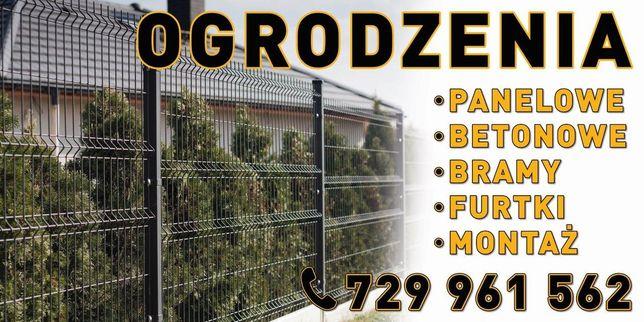 Montaż ogrodzeń panelowych betonowych bram furtek