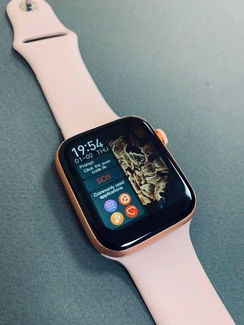 Смарт часы T500 PLUS Pro Розовые. Фитнес браслет. Smart Watch