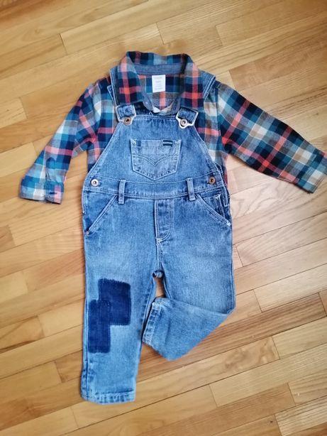 Рубашка - бодик +комбинезон джинсовый