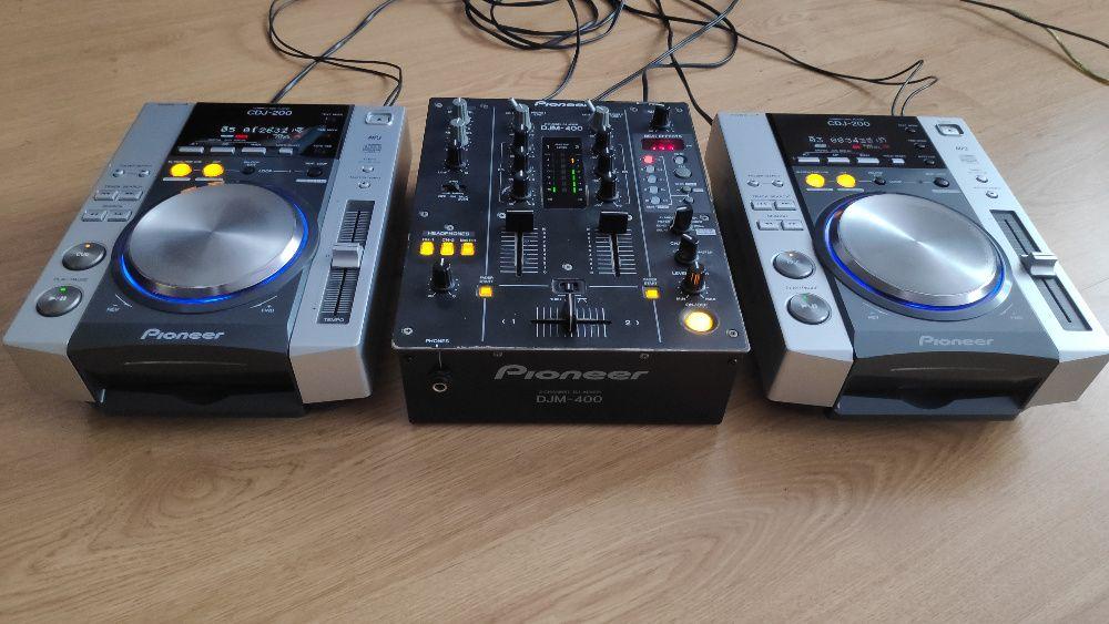 Kontroler DJ PIONEER mikser CDJ 200 + DJM 400