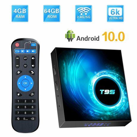 Zestaw smart tv box t95 android 10 2gb/16gb + klawiatura i8 2020 rok