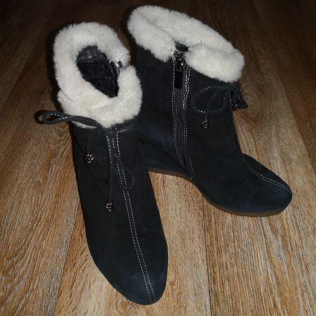 Зимние ботинки, натуральный замш