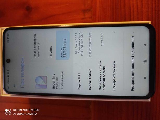 Redmi Note 9S, повна комплектація, 4000 грн.