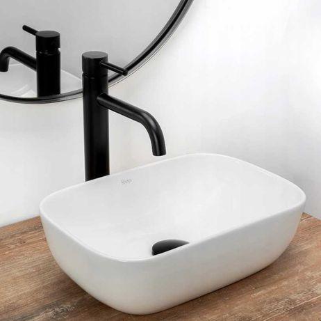Umywalka Nablatowa biała 37x25 cm BELINDA mini - REA