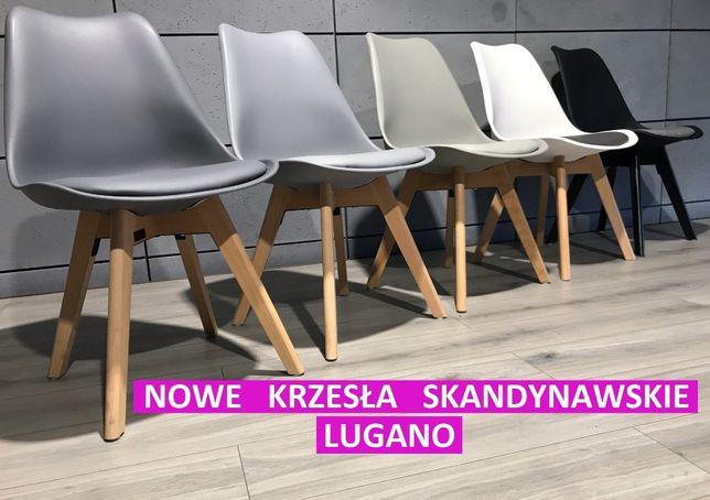 krzesło nowoczesne z poduszką NOWE tapicerowane krzesła