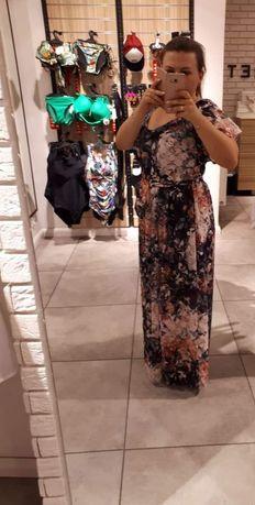 Dluga elegancka sukienka r. 38M/L