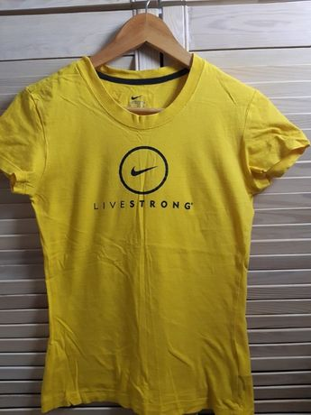 koszulka żółta NIKE Live Strong sportowy t shirt