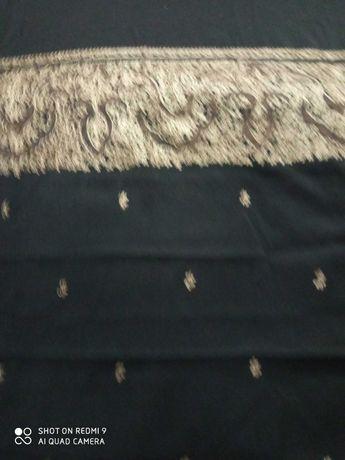Ткань черная с купонами