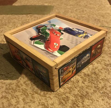 Drewniane klocki puzzle Disney Cars