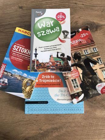 Przewodniki: Sztokholm; Trójmiasto; Warszawa x2