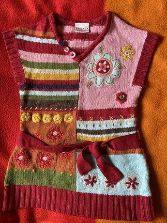 Sukienka tunika kamizela 86cm 12-18 miesięcy