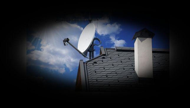 Tv ustawianie anten  sygnału satelitarnego montaż hd 4k 6k  Netflix