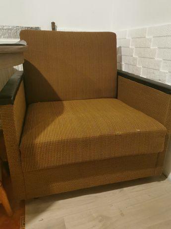 Fotel rozkładany PRL