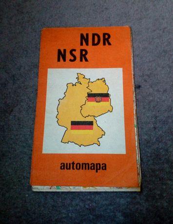 Sprzedam starą słowacką mapę NDR NSR automapa z 1990 roku