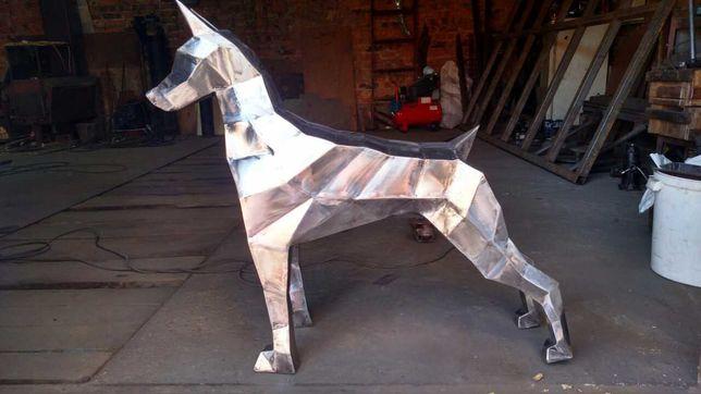 Полигональные фигуры, скульптуры из металла