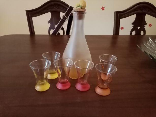 Conjunto vintage de licor