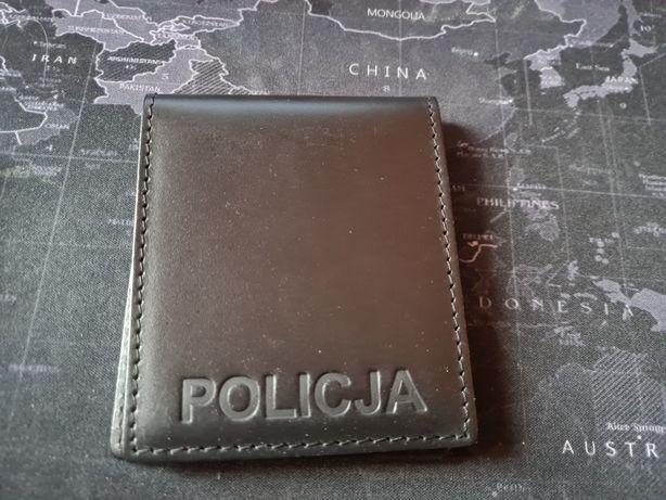 Okładka legitymacji Policja skórzana