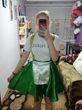 Костюм сарафан, зелёный