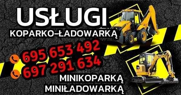 Usługi Minikoparką Koparko-ładowarką Miniładowarką