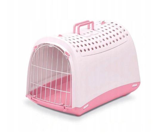 Transporter dla kota lub małego psa Linus Cabrio różowy