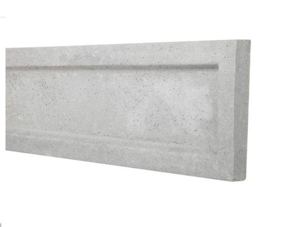 Płyta betonowa podmurówka pod siatkę panel 250 x 25 cm deska podwalina