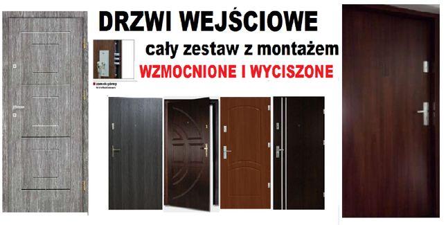 Drzwi z MONTAŻEM,zewnętrzne,WEJŚCIOWE do mieszkania drewniane.