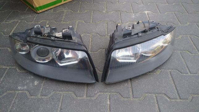 Lampy przód A4 S4 b6 Xenon europa. Ciemne środki.