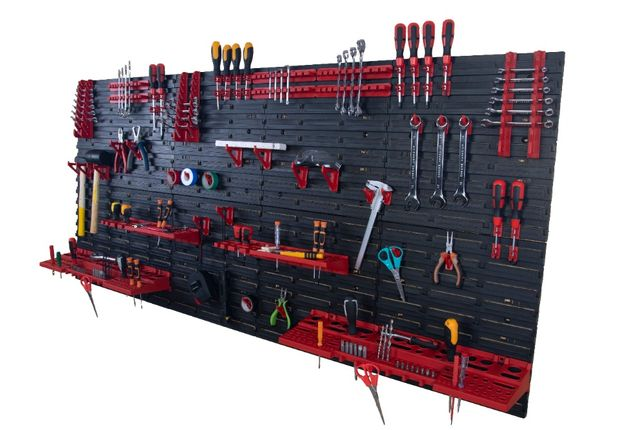 TABLICA NARZĘDZIOWA warsztatowa organizer półki haczyki 173x78cm TAB 5