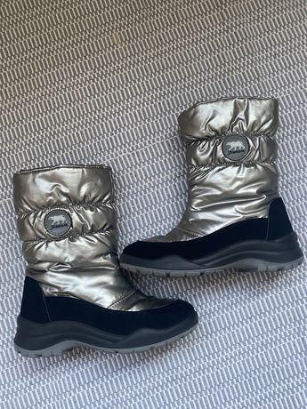 Фирменные зимние теплые ботинки сапоги дутики Skandia Securely 34 раз