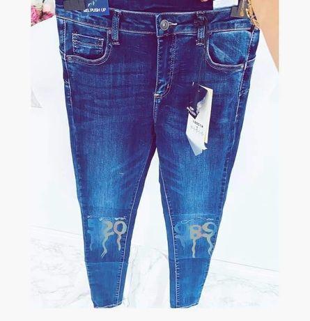Spodnie jeansy push up S