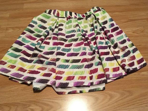 Nowa kolorowa krótka rozkloszowana spódniczka na lato S