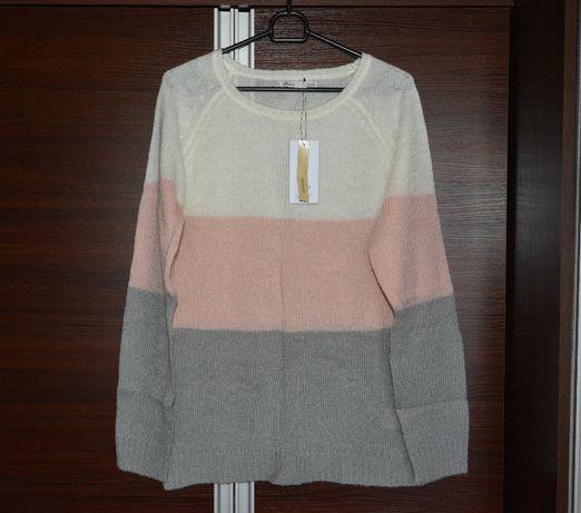 Nowy sweter w pasy House pastelowy