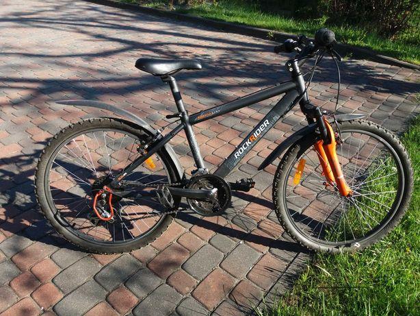 Rower chłopięcy 8-12 lat czarno-pomarańczowy