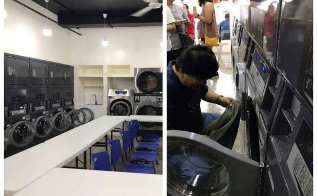 Self-service lavandaria aluguer de equipamentos