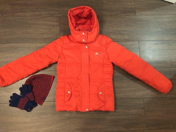 Куртка пуховик Adidas, S-M