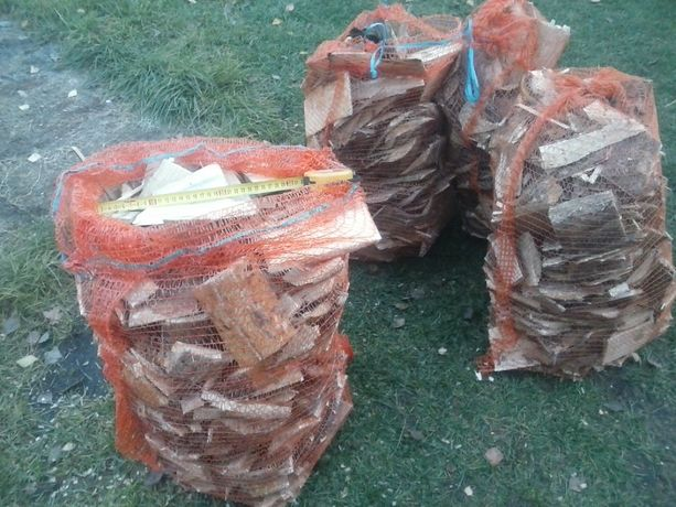 Drewno opałowe, rozpałkowe ,workowane suche lub mokre sosnowe zrzyny