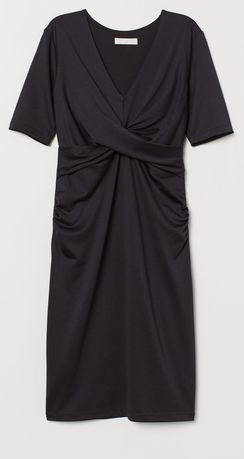 H&M elegancka czarna ciążowa sukienka XS / S j.nowa