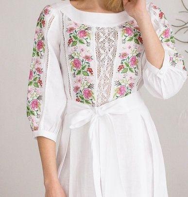 Сукня вишита, плаття на розписку чи на весілля. Лляне. Львов - изображение 1