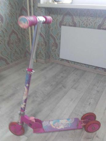 пролам детский розовый самокат бу для девочки