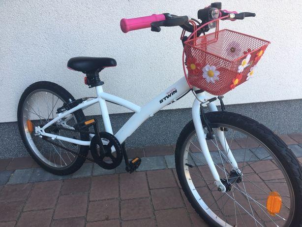 Rower B'Twin 20 cali,Decathlon, dla dziewczynki, wysylka w cenie!