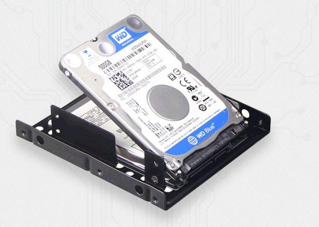 """Переходник адаптер салазки из 2.5"""" HDD/SSD в 3.5 для 2шт жесткий диск"""