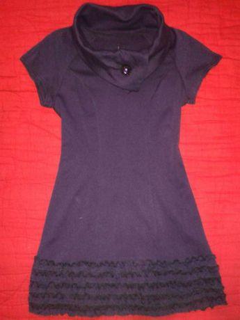 Трикотажное фиолетовое платье, 36 р