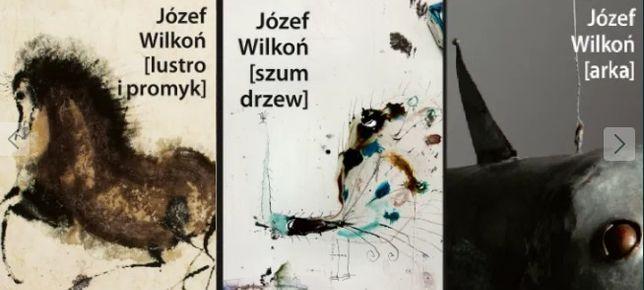 Józef Wilkoń Lustro i promyk Arka Szum drzew tom I-III Autograf